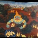 Wandmalereien im Königspalast in Bangkok