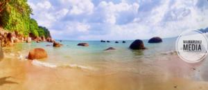 Schöner Strandabschnitt in Lamai