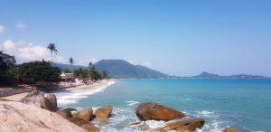 Strand von Lamai, fotografiert vom südlichen Ende